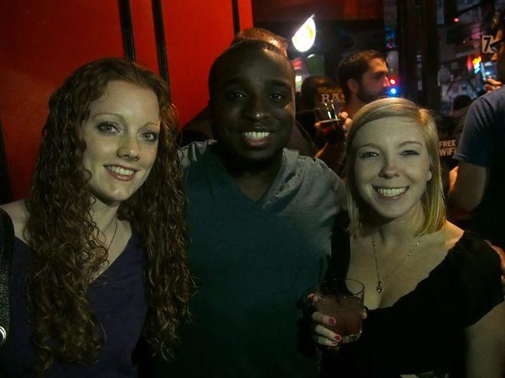 Amber, me, and Jessica, Addison bar, circa Fall 2013
