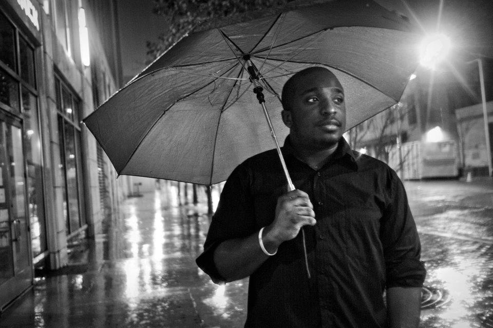 Me, rainy night in downtown Austin, circa spring 2012